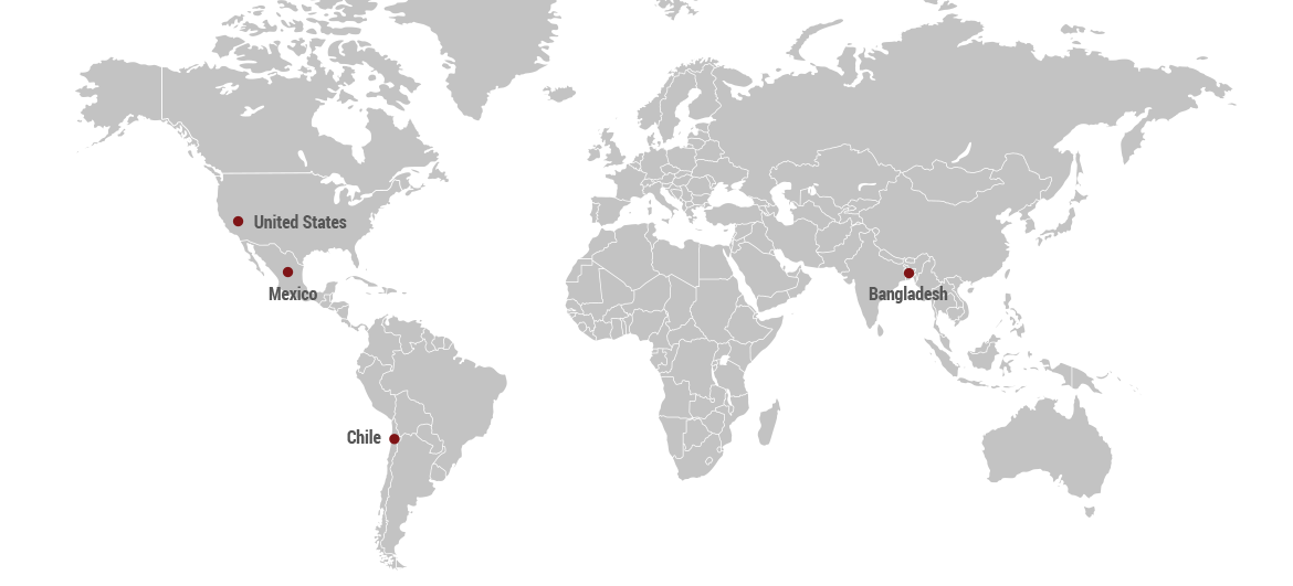 Global Services Area Map